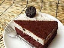 Black & white cookie and cream chocolate cake Royalty Free Stock Photos
