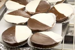 Black and White Cookie Royalty Free Stock Images