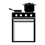 black and white cooking stuff, graphic Stock Images