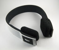 Black and white cordless stereo headset Stock Photography