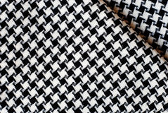 Black and White Cotton Texture. Royalty Free Stock Images