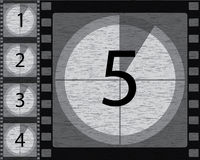 Black and white countdown. With noisy background design Stock Images