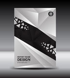 Black and White Cover design and Cover Annual report vector illustration,booklet,poster,leaflet royalty free illustration