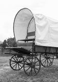 Black & White Covered wagon Stock Images
