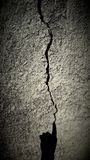 Black and white crack Royalty Free Stock Image