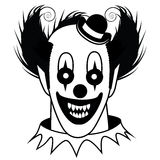 Black and white Creepy Clown Royalty Free Stock Images