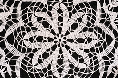 Black and white crochet background Royalty Free Stock Images