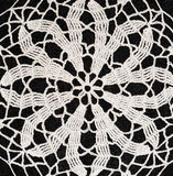 Black and white crochet background Stock Photography