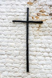 Black and White Cross Royalty Free Stock Photography