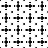 Black and white cross polka dot seamless pattern Royalty Free Stock Photo