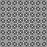 Black and white cross seamless pattern Stock Photos