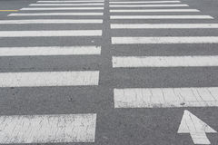 Black and white crosswalk. Royalty Free Stock Image