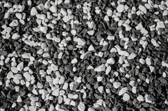 Black and white crushed gravel texture Stock Photos