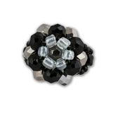 Black and white crystal cluster ring Stock Photography