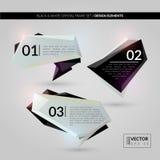 BLACK & WHITE CRYSTAL FRAME SET. DESIGN ELEMENTS. Vector illustration - EPS 10 Royalty Free Stock Image