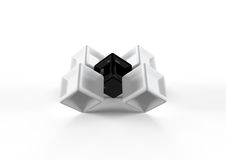 Black and white cubes Stock Image