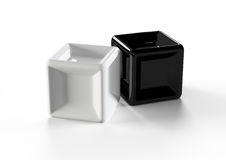 Black and white cubes Royalty Free Stock Photography