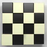 Black and white cubes. 3d rendering with black and white cubes Stock Images