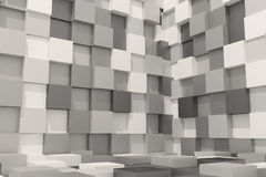 Black and white cubes. 3d rendering with black and white cubes Royalty Free Stock Images