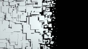 Black and white cubes screen wipe transition. 3D Royalty Free Stock Photo