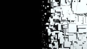 Black and white cubes screen wipe transition Royalty Free Stock Photography