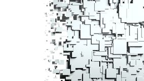 Black and white cubes screen wipe transition. 3D Royalty Free Stock Photography