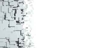 Black and white cubes screen wipe transition. 3D rendering Royalty Free Stock Images