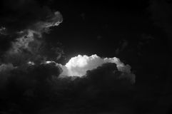 Black and white cumulonimbus stormy cloud Royalty Free Stock Images