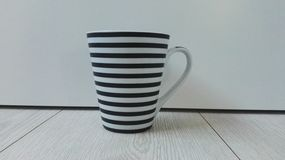 Black and white cup Royalty Free Stock Image