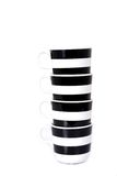 Black and white cup isolated Stock Photo