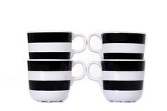 Black and white cup isolated Stock Photography