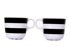 Black and white cup isolated Royalty Free Stock Image