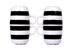 Black and white cup isolated Stock Image