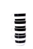 Black and white cup isolated Royalty Free Stock Photo
