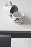 Black and white. Cup Stock Photos