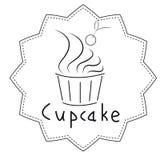 Black and white cupcake Stock Photos