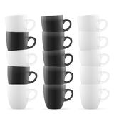 Black and white cups Royalty Free Stock Photography