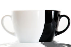 Black and white cups Royalty Free Stock Images