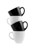 Black and white cups isolated Stock Photo
