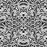 Black and white curly pattern Royalty Free Stock Photos