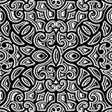 Black and white curly pattern Stock Photography