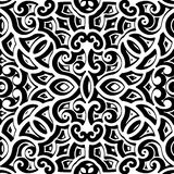Black and white curly pattern Royalty Free Stock Photography