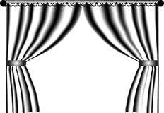 Black and white curtain Royalty Free Stock Photography