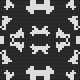 Black and white curtain lace square geometric seamless background with simple pattern Royalty Free Stock Photography