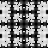 Black and white curtain lace square seamless texture background Royalty Free Stock Photography