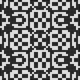 Black white curtain lace square seamless texture background with geometric  pattern Stock Photos