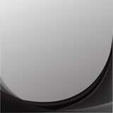 Black and White curve abstract background. Vector Stock Images