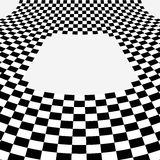 Black and white curve chessboard  background   Royalty Free Stock Photos