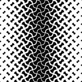 Black and white curved shape pattern background Stock Photography