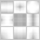 Black and white star pattern set. Black and white curved star pattern set Royalty Free Stock Photos